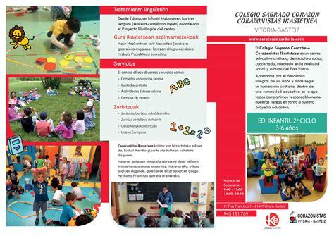 triptico de educacion inicial tr 205 ptico spa triptico educacion inicial admisiones infantil colegio sagrado coraz 243 n