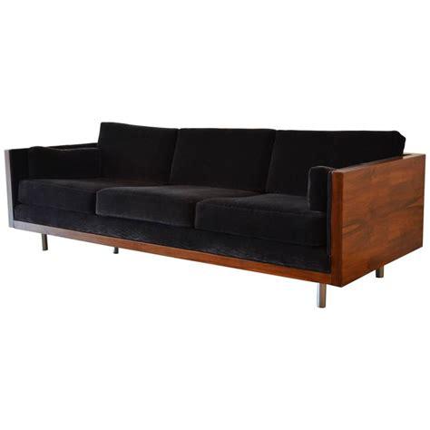 milo baughman rosewood case sofa milo baughman rosewood case sofa in mohair at 1stdibs