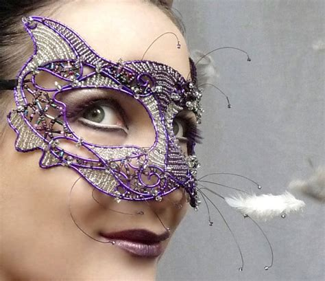 Handmade Masquerade Mask - purple cat masquerade mask handmade on luulla