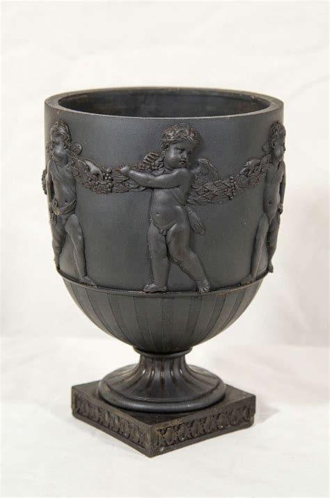Wedgwood Black Basalt Vase by Wedgwood And Bentley Black Basalt Vase At 1stdibs