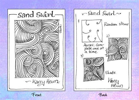 Zentangle Pattern Sand Swirl | tangle pattern sand swirl zentangles pinterest