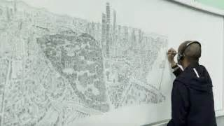 time lapse of brisbane panorama by stephen wiltshire youtube colossus a time lapse ink drawing of new york city s