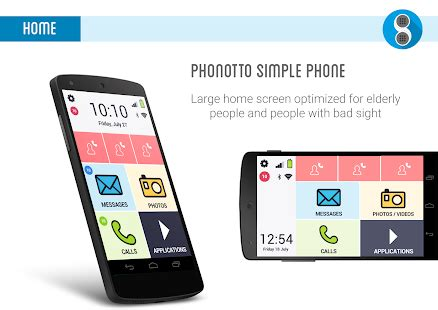 download android app phonotto simple phone launcher for
