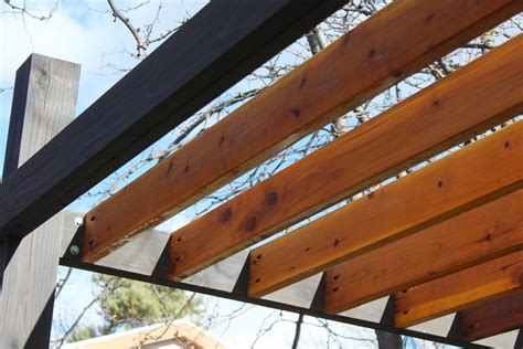 black pergola hardware how to install modern pergola rafters without brackets