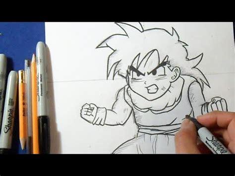 "fácil cómo dibujar a gohan (niño) ""dragon ball z""   how"