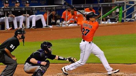 stanton hits 250th career homer to tie marlins record wfmz