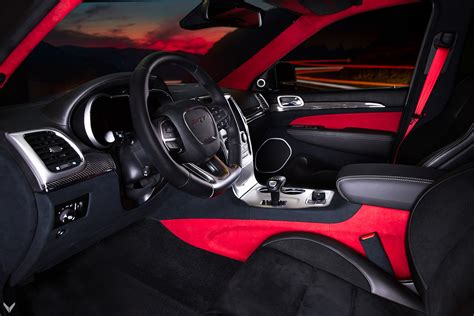jeep grand cherokee red interior vilner releases jeep grand cherokee srt based interior project
