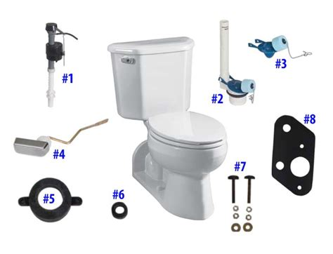 Briggs Plumbing Parts by Briggs Vacuity Toilet Replacement Parts