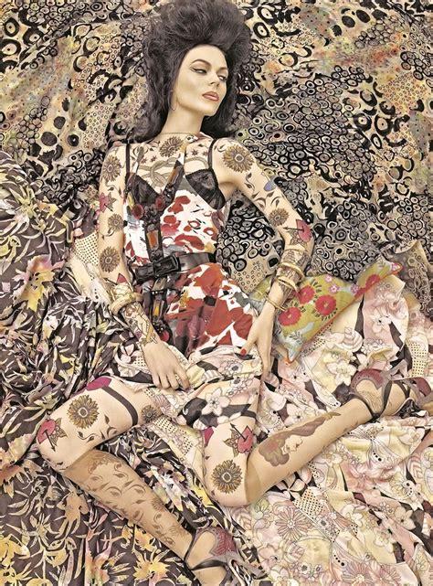 pattern fashion photography vogue patterns by steven meisel thetattooedgeisha