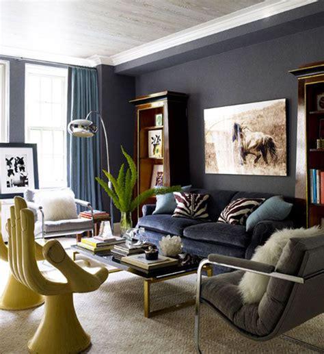 decoração sala de estar azul e marrom decora 199 195 o azul une arq design