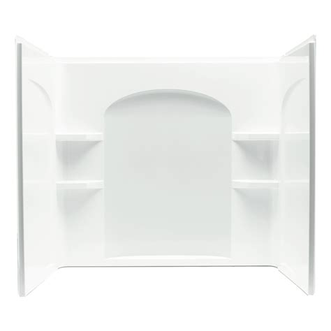 wall surrounds for bathtubs shop sterling ensemble vikrell bathtub wall surround common 32 in x 60 in actual