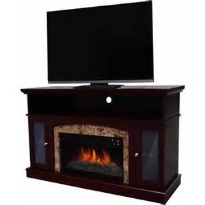 electric fireplace tv stand walmart decor electric fireplace for tvs up to 48 quot chestnut