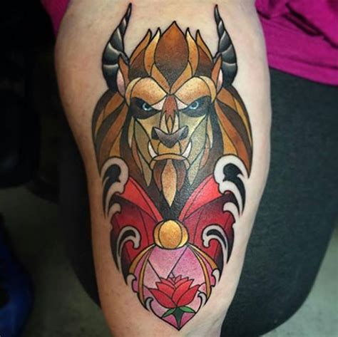beauty and the beast tattoo designs top 100 disney ideas that evoke nostalgia