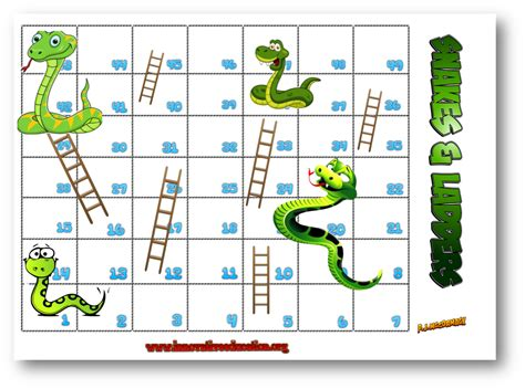 pin simple snakes ladders printable on pinterest