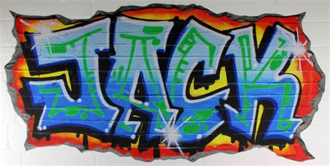 graffiti wall stickers personalised blue graffiti wall stickers by nest
