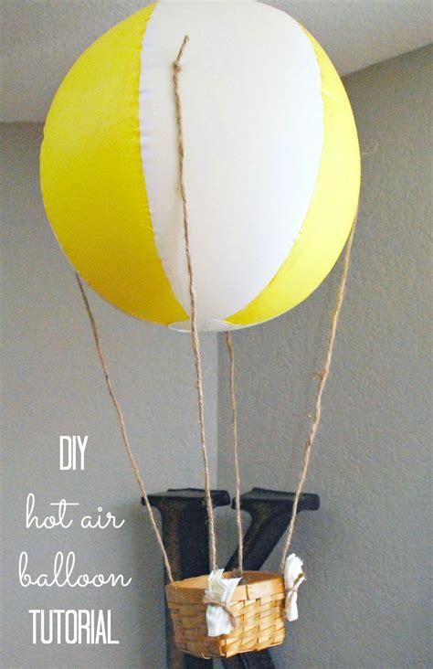 Handmade Air Balloon - diy wooden sign and s mantel clutter