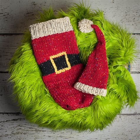 knitting christmas loom knit cocoon and santa hat pattern for