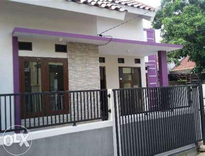 perpaduan warna cat ungu  bagian luar  indah
