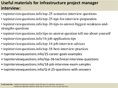 Infrastructure Project Manager by Top 10 Infrastructure Project Manager Questions And Answers