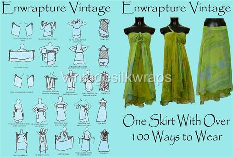 sewing pattern magic wrap skirt 10 count lot vintage silk magic wrap skirt bonus dvd