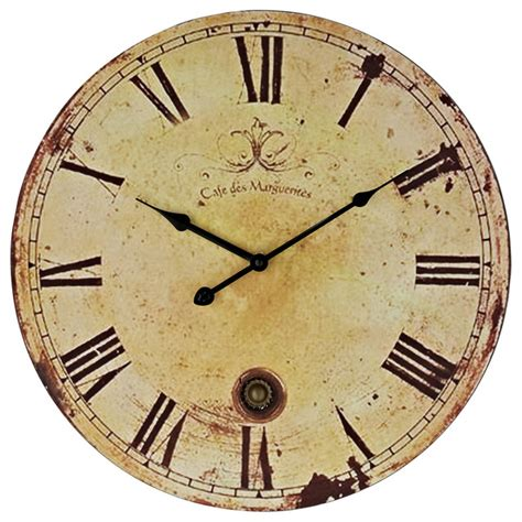 vintage wall clock in antique brown modern wall clocks