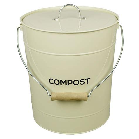 compost wizard 075gallon wood kitchen compost bin kitchen compost bin canada vonshef kitchen stainless