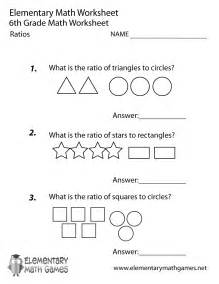 Sixth grade ratios worksheet printable