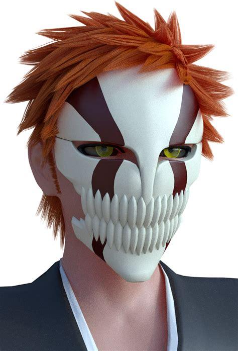 Kaos Ichigo Mask And Swords 3d anime ichigo kurosaki hollow mask by ji nero