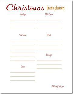 printable holiday menu planner christmas menu planner printable sjb christmas ideas