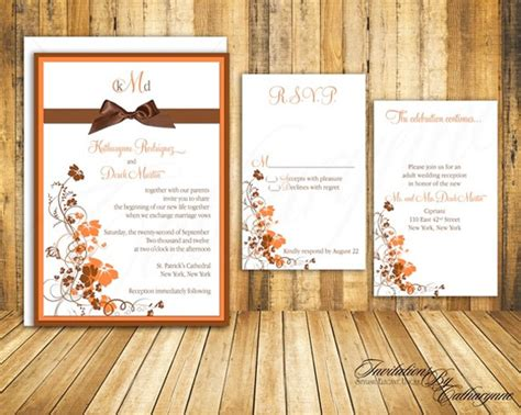 autumn themed wedding invitations best wedding wedding planning directory and guide