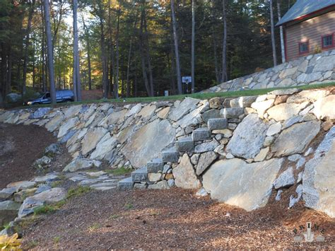 sloping walls retaining wall project photos prime construction nh