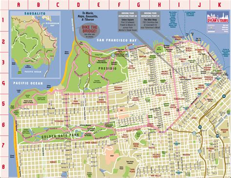 san francisco map attractions maps update 21051488 san francisco city map tourist