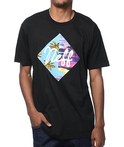 neff summer black t shirt zumiez