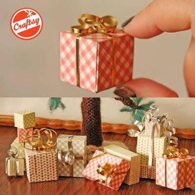 Papercraft Gift Box - tiny papercraft gift boxes