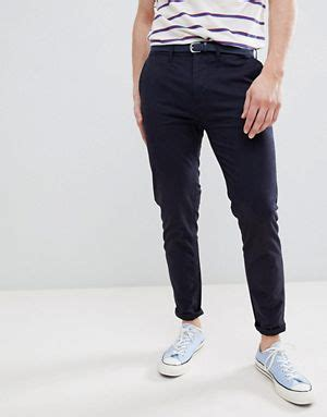 Pull Chinos In Navy s chinos drop crotch slim fit smart chinos asos