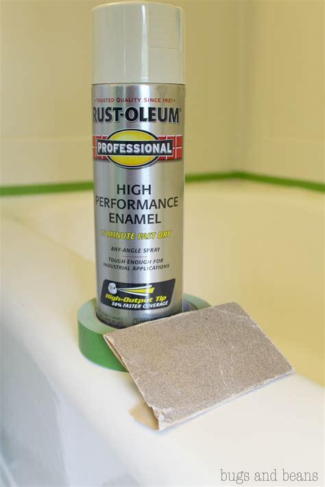 bathtub enamel paint rust oleum high performance enamel 8 new bath renovate