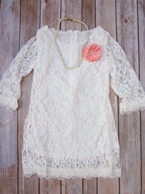 ivory lace flower girl dress lace dress wedding dress
