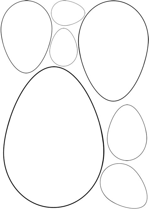 free easter templates 12 free easter egg template images easter egg template