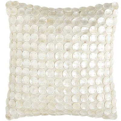 Of Pearl Pillow by Of Pearl Disc Pillow Decor By Color