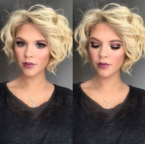 short haircuts for loose curly hair 38 super cute ways to curl your bob popular haircuts for