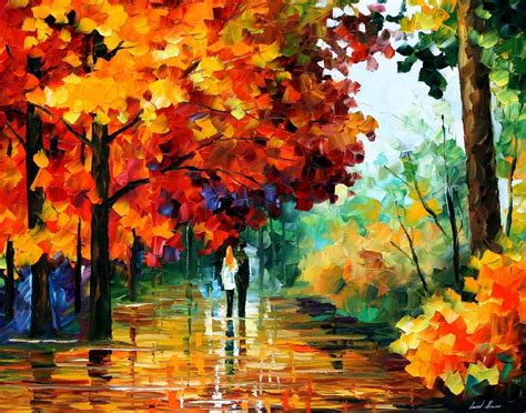 Painting Date by Autumn Date Palette Knife Painting On Canvas By