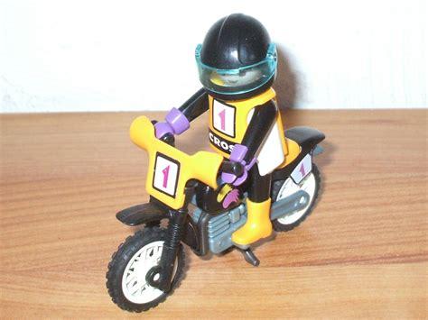Ersatzteile Playmobil Motorrad by Playmobil 3044 Gelbes Cross Motorrad Mit Fahrer Ebay