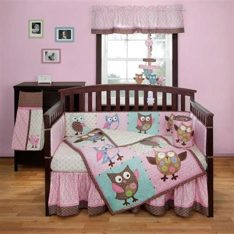 Owl Themed Crib Bedding Bananafish Calico Owls Crib Bedding And Decor Baby Crib Bedding And Owl