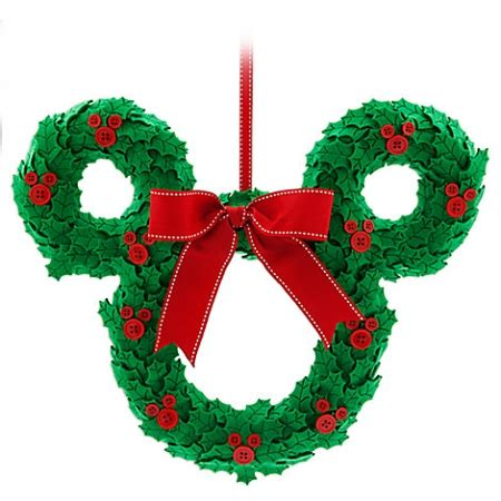 disney christmas door hanger mickey mouse wreath with bow