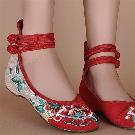 ballet flower shoes womens ballet flower flat embroidered
