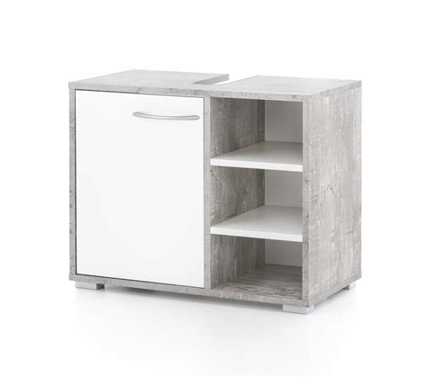 Badezimmer Waschbeckenunterschrank Grau by Bad Waschbeckenunterschrank Lindau 60 Cm Breit Wei 223
