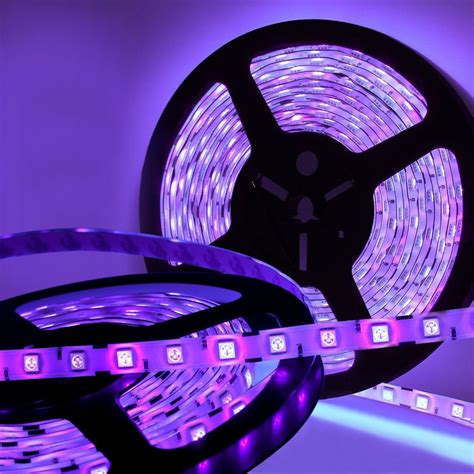 5m 16ft Led Waterproof Ultraviolet Purple Black Light Led Black Light Strips