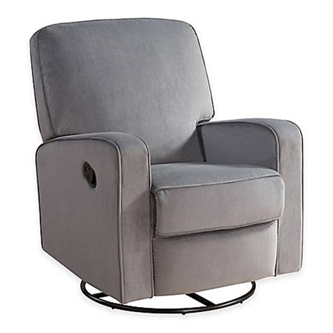 Nursery Glider Recliner Upholstered Gt Abbyson Living 174 Ashlyn Nursery Swivel Glider Recliner In Blue Grey From Buy Buy Baby
