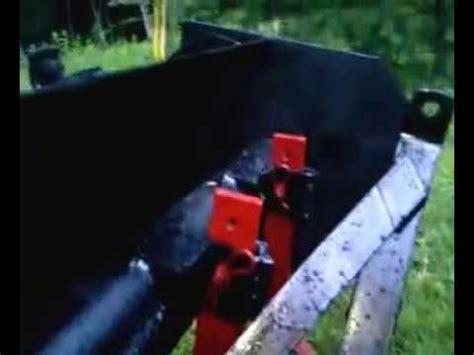 homemade garden tractor box blade part  youtube