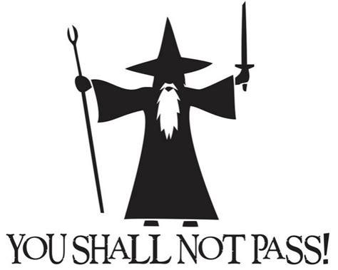 Stiker Gelas Mug Quotes Glass Sticker Office Keep Simple Stupid you shall not pass gandalf decal sticker